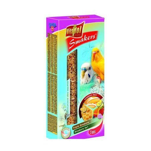 Smakers Kolby dla papużki falistej 3w1 (jajeczna/miodowa/owocowa) 3 sztuki, Vitapol