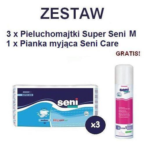 Produkt Pieluchomajtki Super Seni (2) Medium 3op. x 30szt + Pianka Seni Care