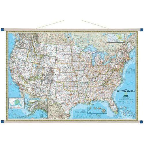 Stany Zjednoczne (USA). Mapa ścienna Classic 1:2,8 mln wyd. , produkt marki National Geographic