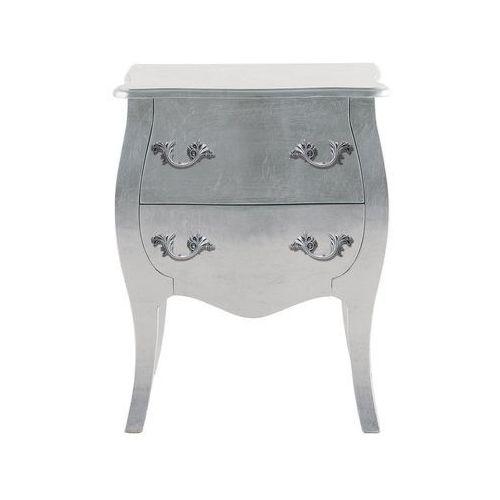 Romantic Silver Leaf Designerski Drewniany Szafka Nocna 57x41cm - 73315, Kare Design