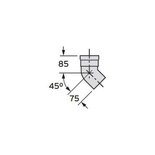 Oferta Vaillant Kolanko 45° (Ø 80) (2 sztuki), PP z kat.: ogrzewanie