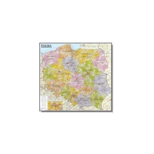 Polska mapa administracyjno-samochodowa 1:570 000 listwa od SELKAR