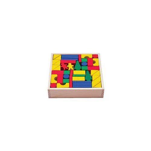 Klocki drewniane kolorowe w skrzynce 92 elementy, Ravelo z RAVELO