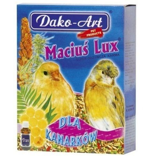 DAKO ART Maciuś Lux z tranem 500g dla kanarka, Dako-Art
