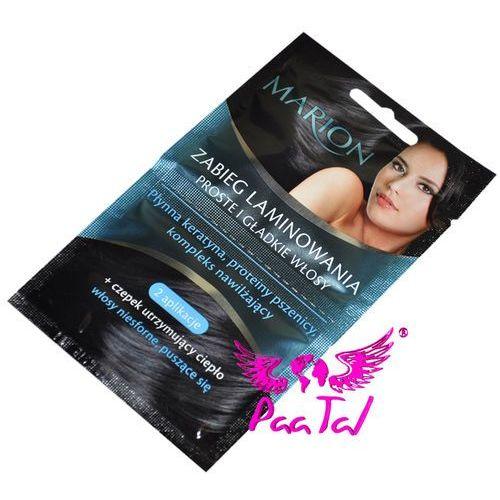Produkt z kategorii- pozostałe kosmetyki do włosów - ZABIEG LAMINOWANIA WŁOSÓW + GRATIS CZEPEK MARION