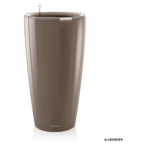 Donica  Rondo - taupe (kawa z mlekiem) - 32 x 56 cm, połysk - Kawa z mlekiem, produkt marki Lechuza