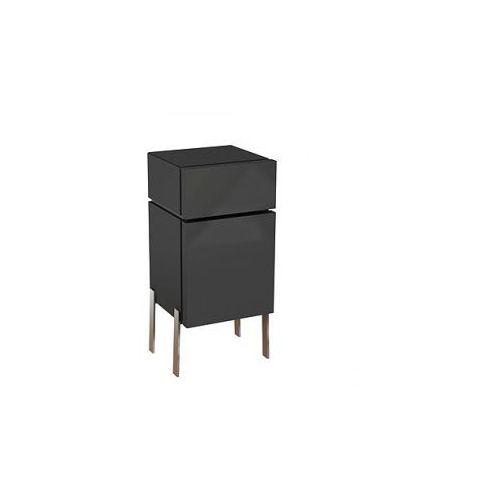 KOŁO szafka wisząca boczna niska Varius ciemny grafit - półsłupek 88153 - produkt z kategorii- regały ł