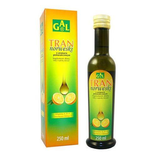 Tran Norweski o aromacie pomarańczowym płyn - 250 ml, postać leku: płyn