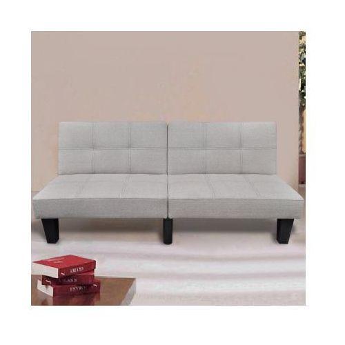 Sofa rozkładana, ciepły biały kolor, vidaXL