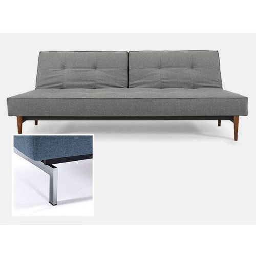 Sofa Splitback szara 216 nogi chromowane  741010216-741010-0-2, INNOVATION iStyle
