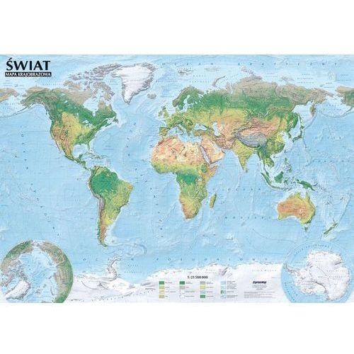 Świat Mapa polityczna i krajobrazowa tuba od SELKAR
