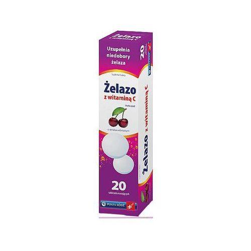 [tabletki] Żelazo z witaminą c polfa łódź x 20 tabl musujących