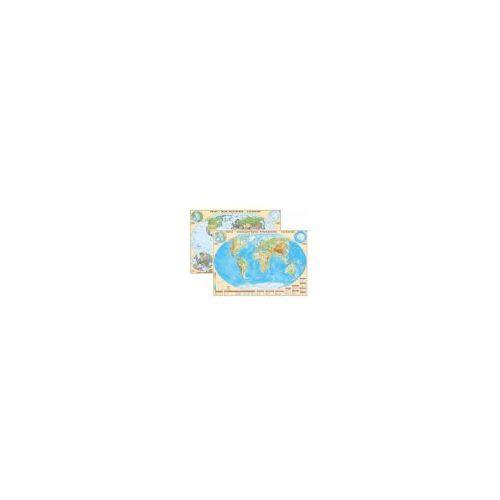 Świat mapa dwustronna polityczno/fizyczna 1:25 000 000 EkoGraf od Cartographica