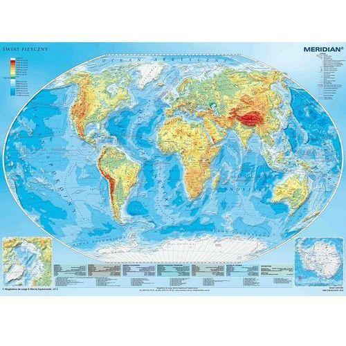 Świat. Mapa ścienna fizyczna 1:20 mln wyd. , produkt marki Meridian
