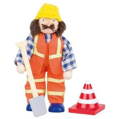 Postać do teatrzyku - pracownik drogowy (pacynka, kukiełka)