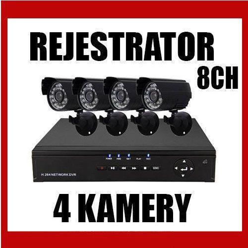 Rejestrator 8-kanałowy+ 4  dzień noc wyprodukowany przez Kamery