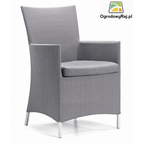 Fotel ogrodowy z podłokietnikami COMO 48x60x91 cm. COMO-FOT.TX-SZARY ze sklepu OgrodowyRaj.pl