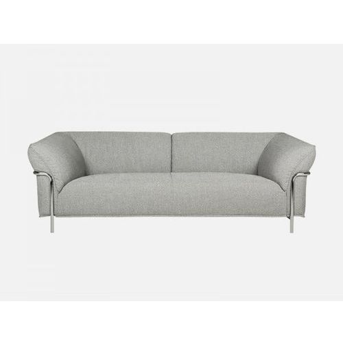 Sofa Doris jasnoszara ORIGIN 51 light grey rama chrom  E0334-0200-2S-ORIGIN51-CHR, Sits