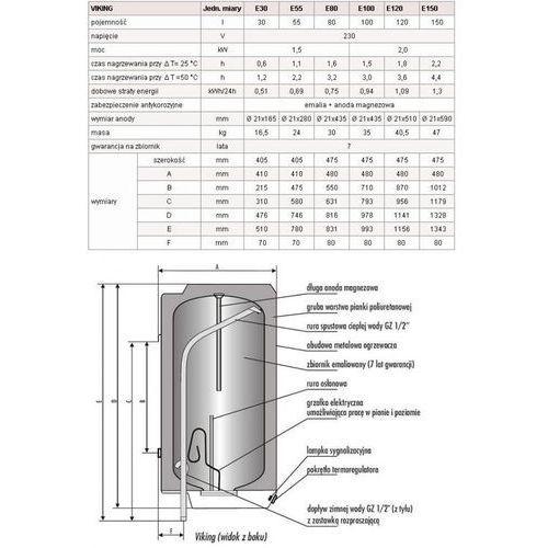 BIAWAR Ogrzewacz wody VIKING E 150 L
