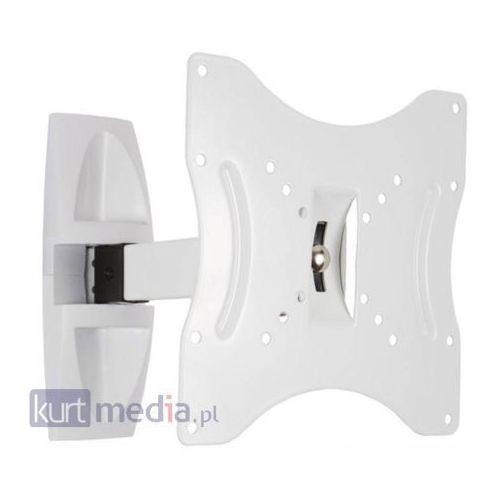 Uchwyt do lcd 15-32'' uchylny/obrotowy ramie 23cm max 30kg biały od producenta 4world