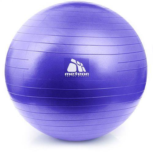 Piłka Fitness  65 cm z pompką lila (wrzos pastelowy), produkt marki Meteor
