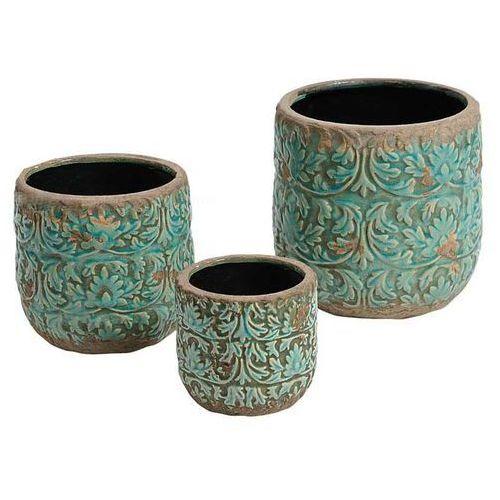 Produkt Donica osłonka Azzurro Flower M, marki Kolekcja Belldeco