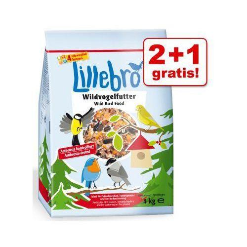 2 + 1 gratis!  karma dla dzikich ptaków 3 x 4 kg - 3 x 4 kg, Lillebro