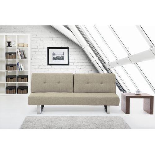 Rozkladana sofa ruchome oparcie - DUBLIN bezowoszary, Beliani