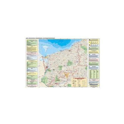Produkt Województwo zachodniopomorskie. Mapa ścienna, ekologiczna/ konturowa województwa zachodniopomorskiego., marki Meridian