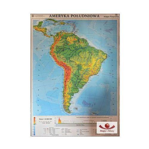 Ameryka Południowa. Mapa ogólnogeograficzna / mapa do ćwiczeń. Mapa ścienna Ameryki Południowej, produkt marki Nowa Era