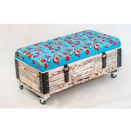 Pufa, siedzisko, skrzynia,  - błękit, marki Wood You Like do zakupu w MYBAZE