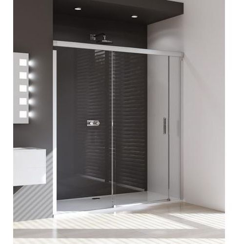 Huppe Design Pure Drzwi prysznicowe suwane ze stałym segementem i częścią boczną - Mocowanie lewe 180/200