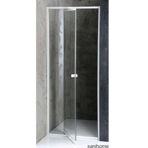 AMICO drzwi prysznicowe do wnęki ze ścanką stałą 100-122 cm G100 (drzwi prysznicowe)