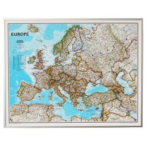 Europa. Mapa ścienna polityczna Classic magnetyczna w ramie 1:8,4 mln wyd, , produkt marki National Geographic