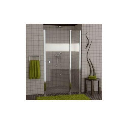 SANSWISS SWING-LINE Drzwi jednoczęściowe z elementem stałym SL13 (drzwi prysznicowe)