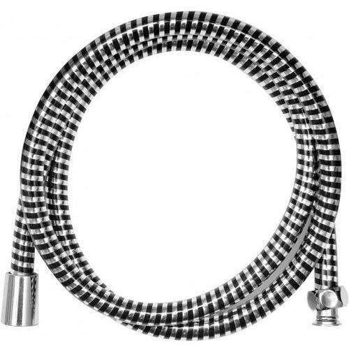 Wąż prysznicowy pvc silver/black 150cm / SZYBKA WYSYŁKA / BEZPŁATNY ODBIÓR: WROCŁAW, kup u jednego z partnerów