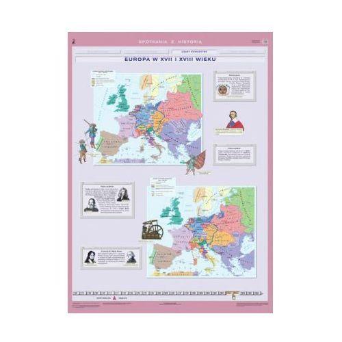 Europa w XVII I XVIII wieku / Rzeczpospolita Obojga Narodów. Mapa ścienna Europy i Polski, produkt marki Nowa Era