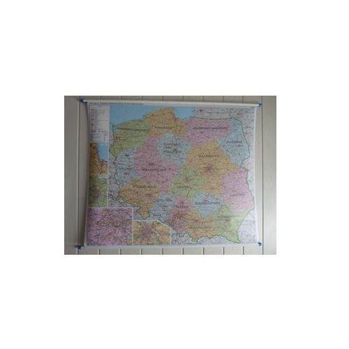 Polska mapa ścienna administracyjno-drogowa 1:700 000 Ekograf, produkt marki Eko-Graf