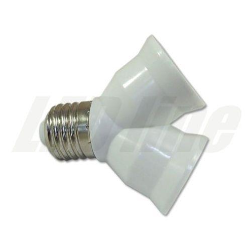 LED line Przejściówka adapter żarówki E27 > 2xE27 3019 z kategorii oświetlenie