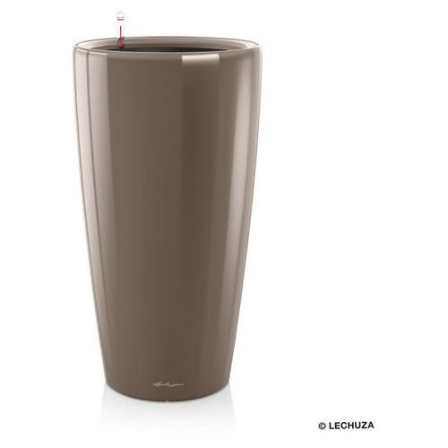 Donica  Rondo - taupe (kawa z mlekiem) - 40 x 75 cm, połysk - Kawa z mlekiem, produkt marki Lechuza