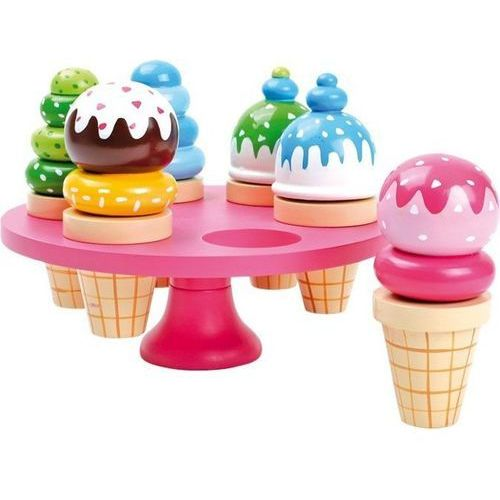 Lody w rożkach ze stojakiem do zabaw dla dzieci oferta ze sklepu www.epinokio.pl
