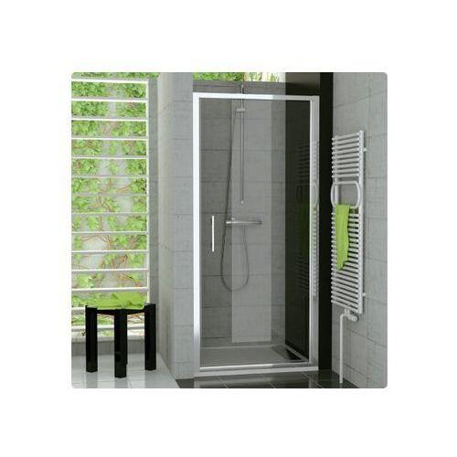 Ronal Top-Line Drzwi prysznicowe jednoczęściowe - 90/190cm srebrny matowy Pas satynowy poziomy TOPP09000151