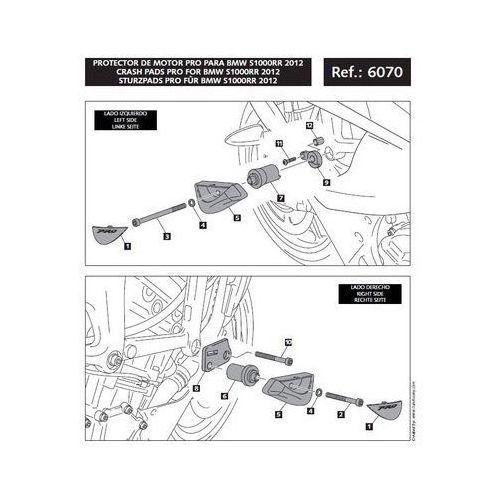 Puig y PUIG BMW S1000RR; 2012-2014 (wersja PRO) | TRANSPORT KURIEREM GRATIS z kat. crash pady motocyklowe
