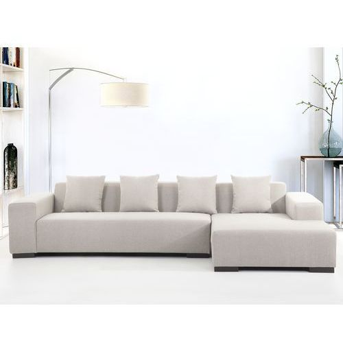 Sofa bezowa - sofa narozna L - tapicerowana - LUNGO, Beliani