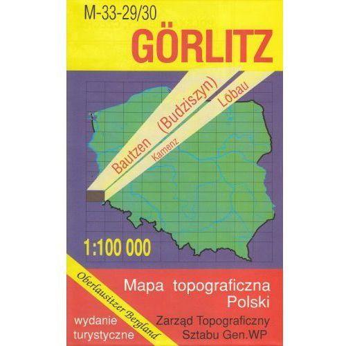 M-33-29/30 Görlitz. Mapa topograficzno-turystyczna 1:100 000 wyd. WZ-Kart, produkt marki Wojskowe Zakłady Kartograficzne