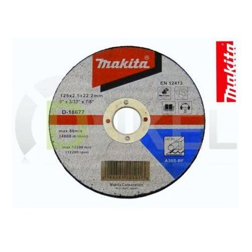 Oferta Tarcza tnąca do metalu 125x2,5 mm MAKITA