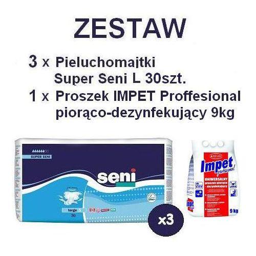3 x Pieluchomajtki Super Seni L 30szt. + Proszek piorąco-dezynf. IMPET, kup u jednego z partnerów