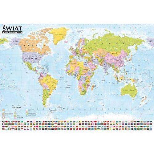 Świat Mapa polityczna i krajobrazowa listwa aluminiowa od SELKAR