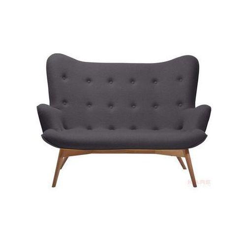 Sofa Angels Wings Dark Grey 2-Seater, kare design