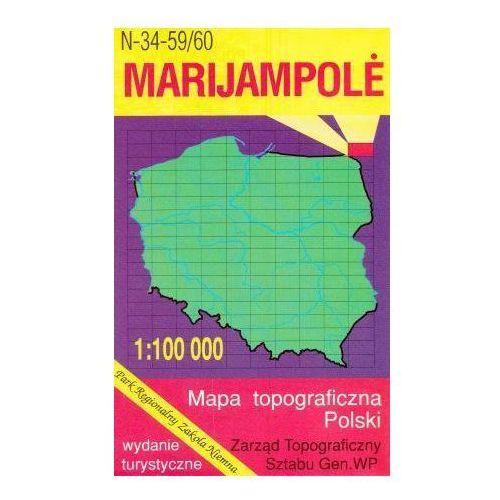 N-34-59/60 Marijampole. Mapa topograficzno-turystyczna 1:100 000 wyd. WZ-Kart, produkt marki Wojskowe Zakłady Kartograficzne